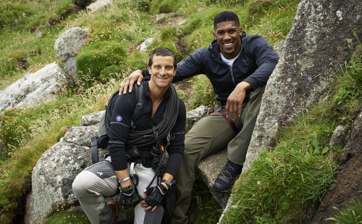 Anthony Joshua goes Wild with Bear Grylls