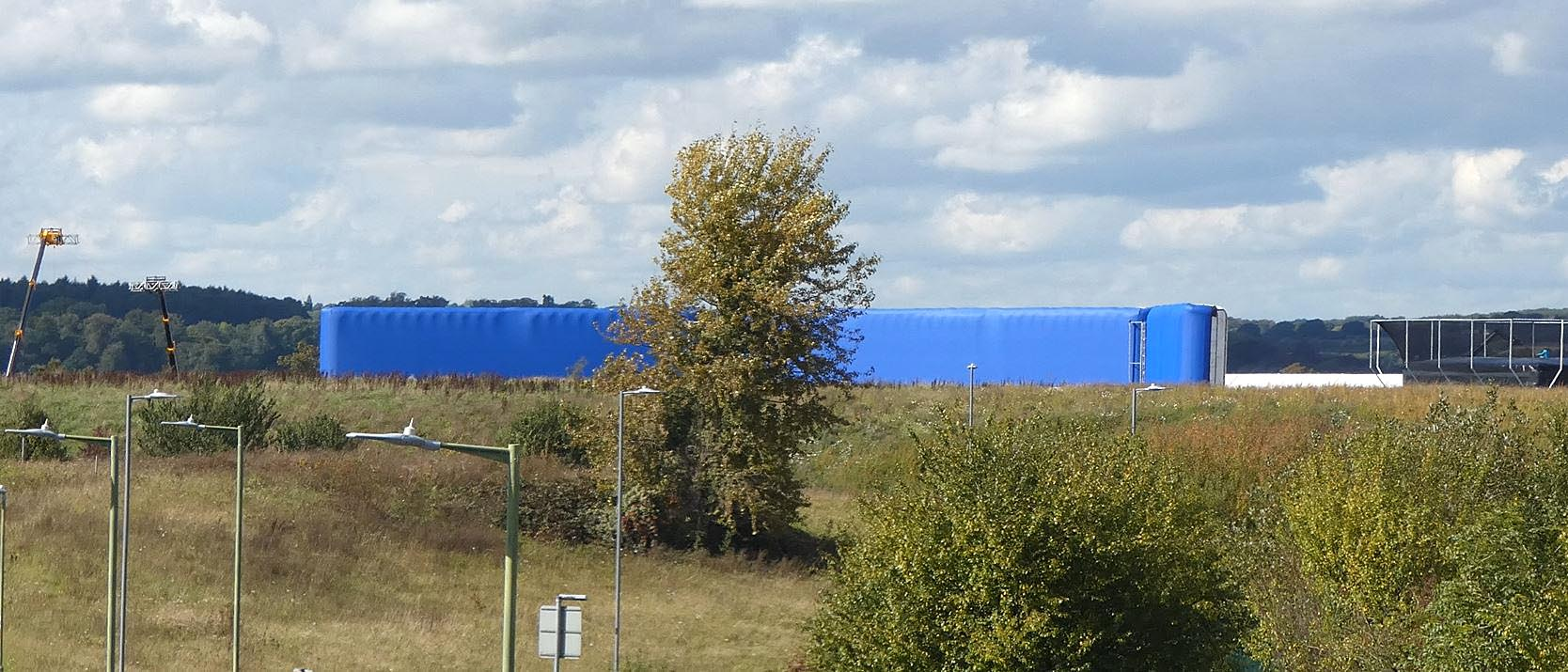This could be the Largest inflatable Bluescreen seen on site.