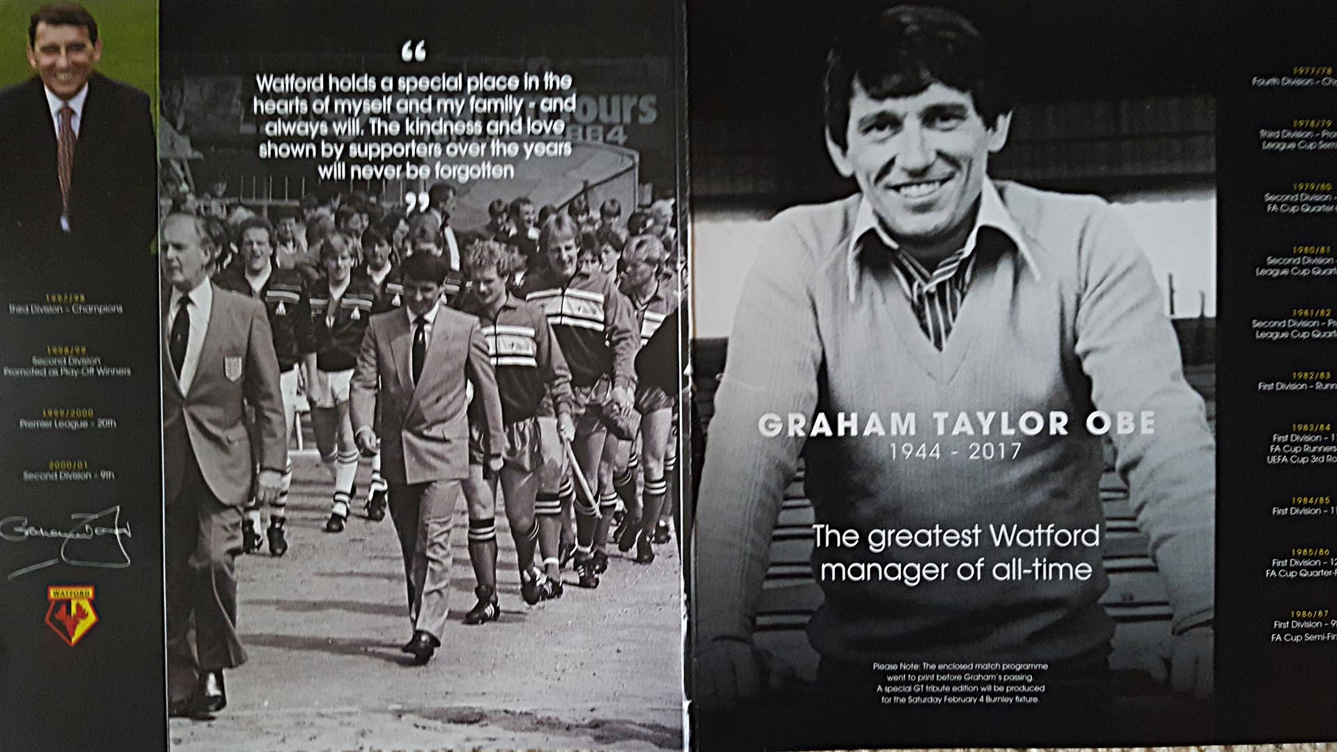 Graham Taylors Funeral announced for February