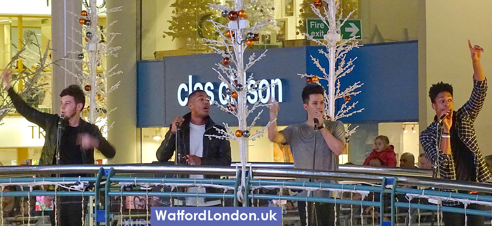 Concept (boy band seen on X Factor) Sing at Watford Christmas Lights on event