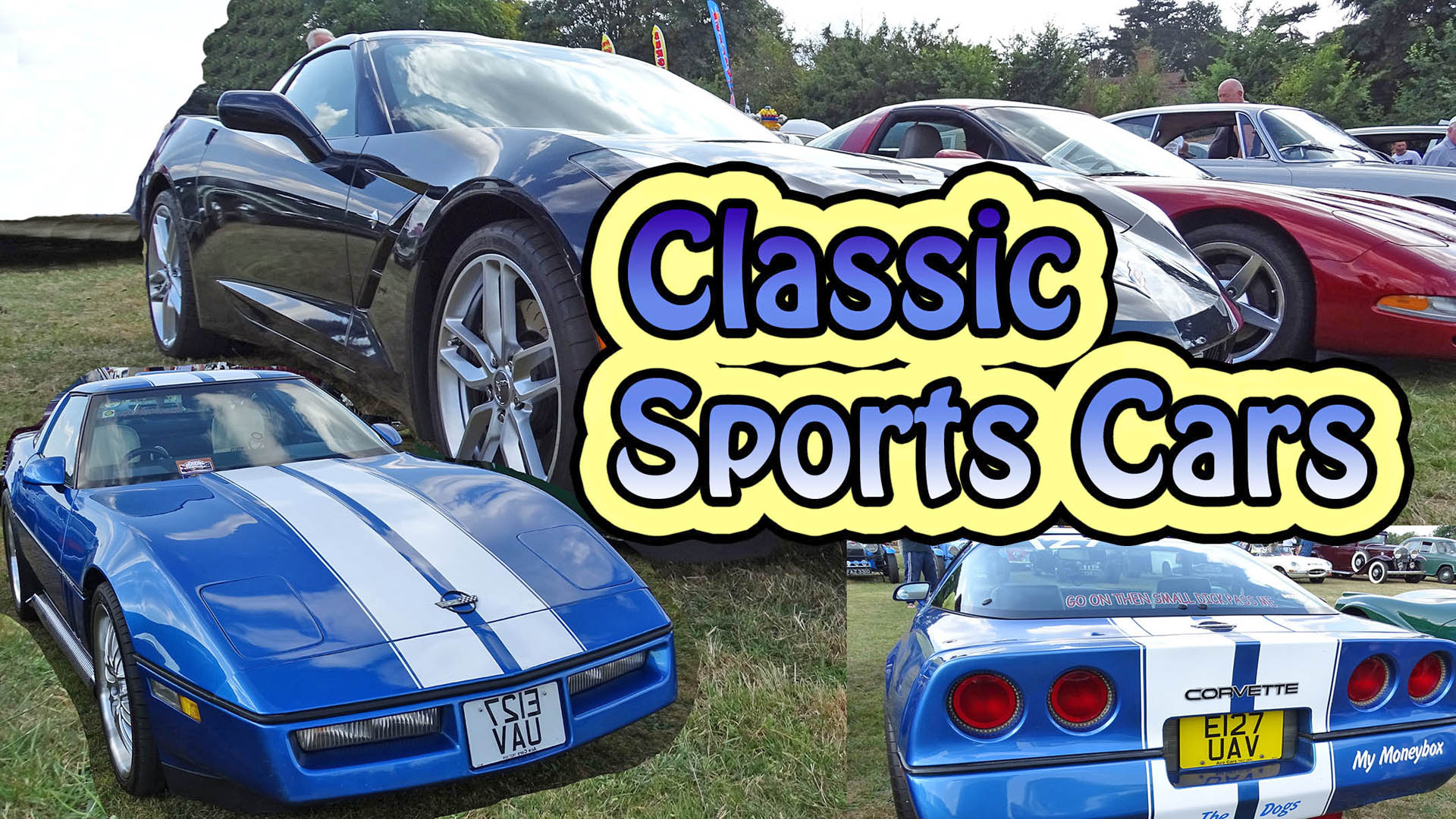 American Corvette's Mustang's Super Classic Sports Cars at Croxley Green Car Show