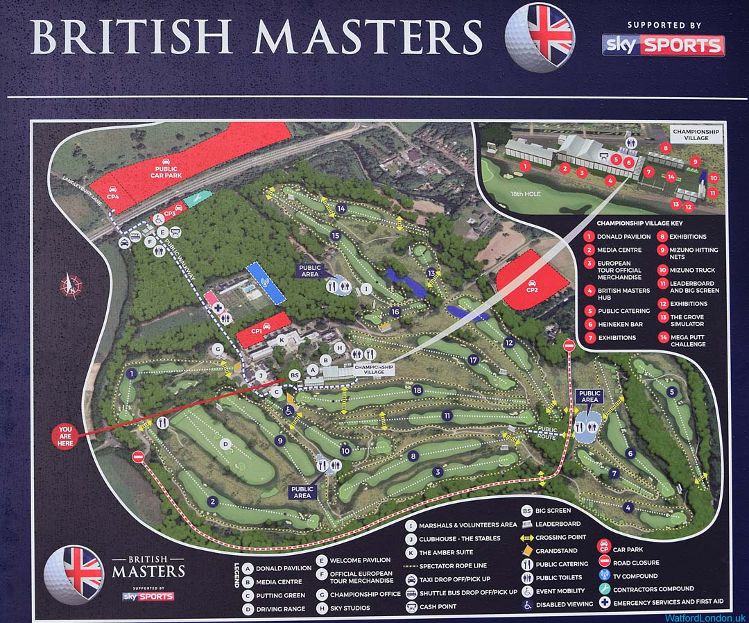 British Masters Golf Course 2016