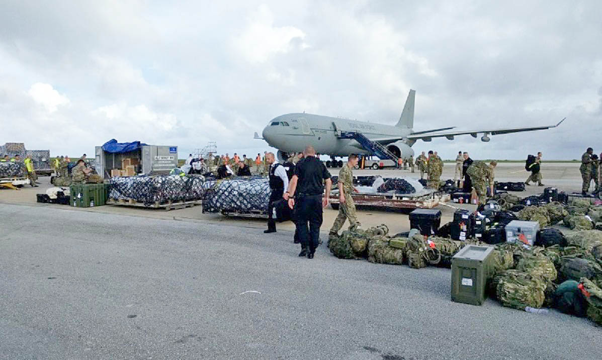 HERTFORDSHIRE POLICE OFFICERS FLY TO THE CARIBBEAN TO HELP THOSE AFFECTED BY HURRICANE IRMA.