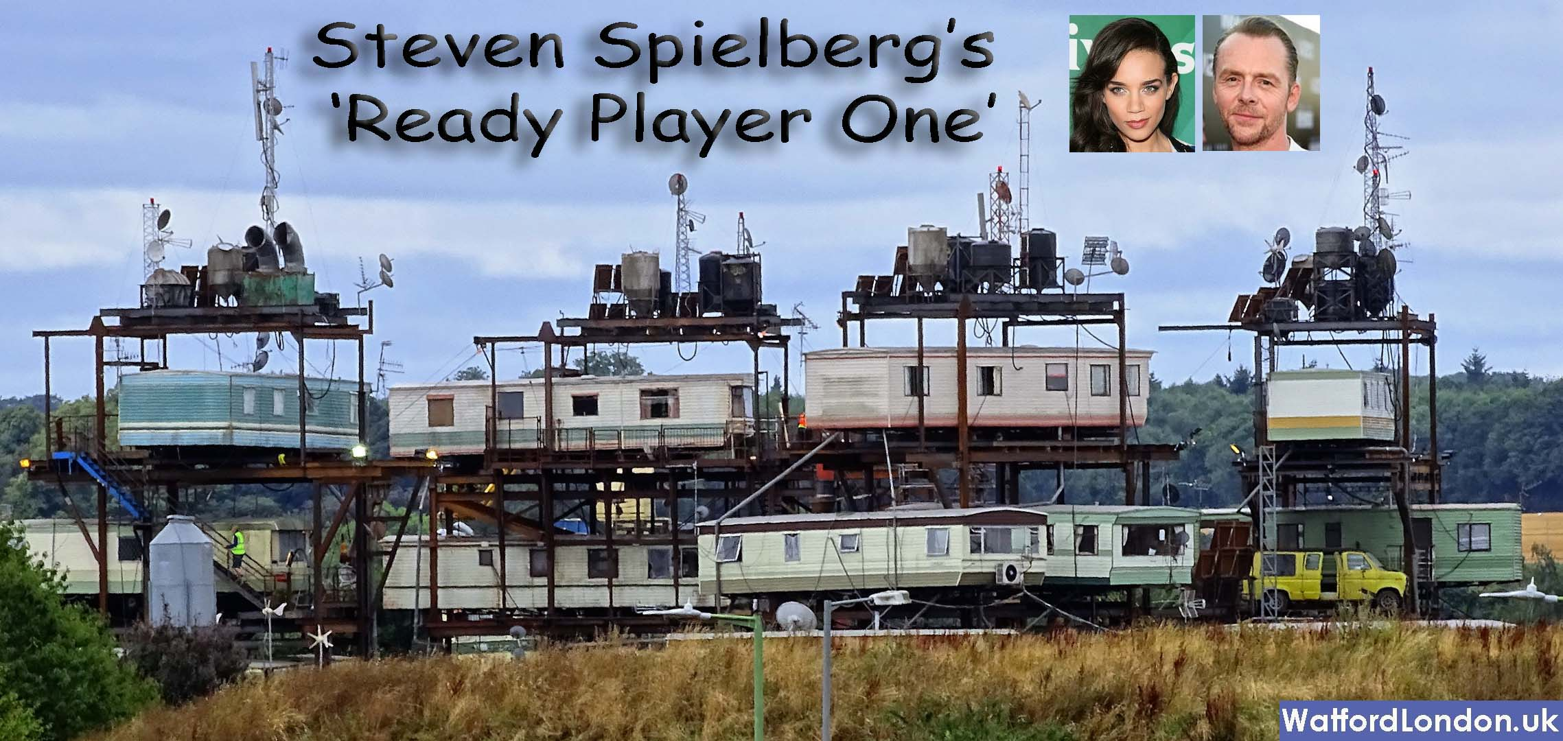The New Steven Spielberg's 'Ready Player One' Film Set has begun production in Watford.