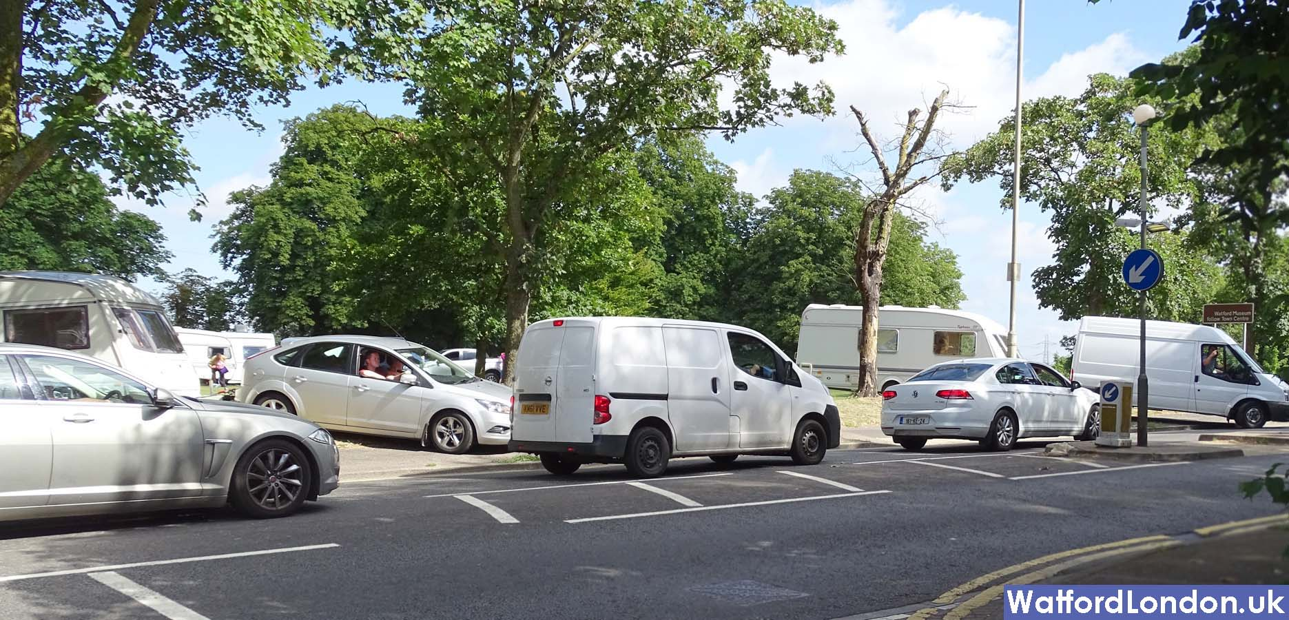 Female resident angry over travellers who leave rubbish when they moved their caravans on. eastbury road oxhey