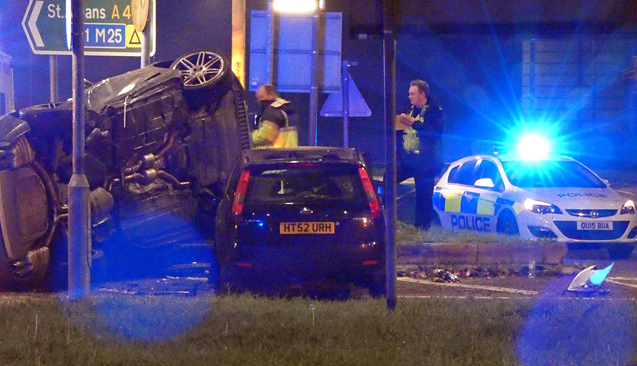 Two Cars Written off in Crash near Hollywood Bowl Watford