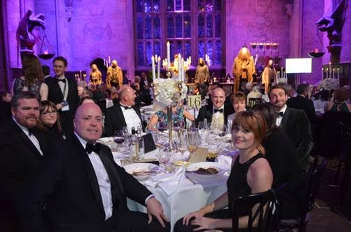 Peace Hospice Care Magical night Declan Carroll (CEO of Peace Hospice Care) and his table – including Tim FitzHigham.