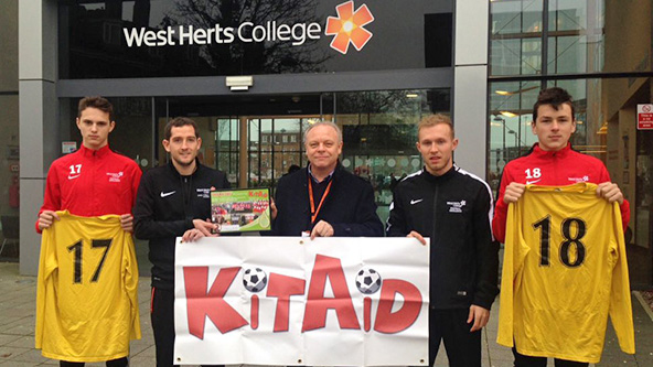 Sports Students at West Herts College Donated their Sports Kit going to Africa AID