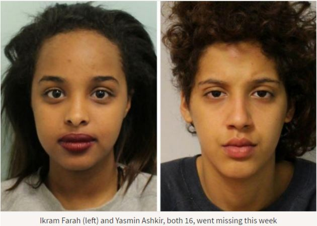 Yasmin Ashkir and Ikram Farah, have been missing since Wednesday August 24.