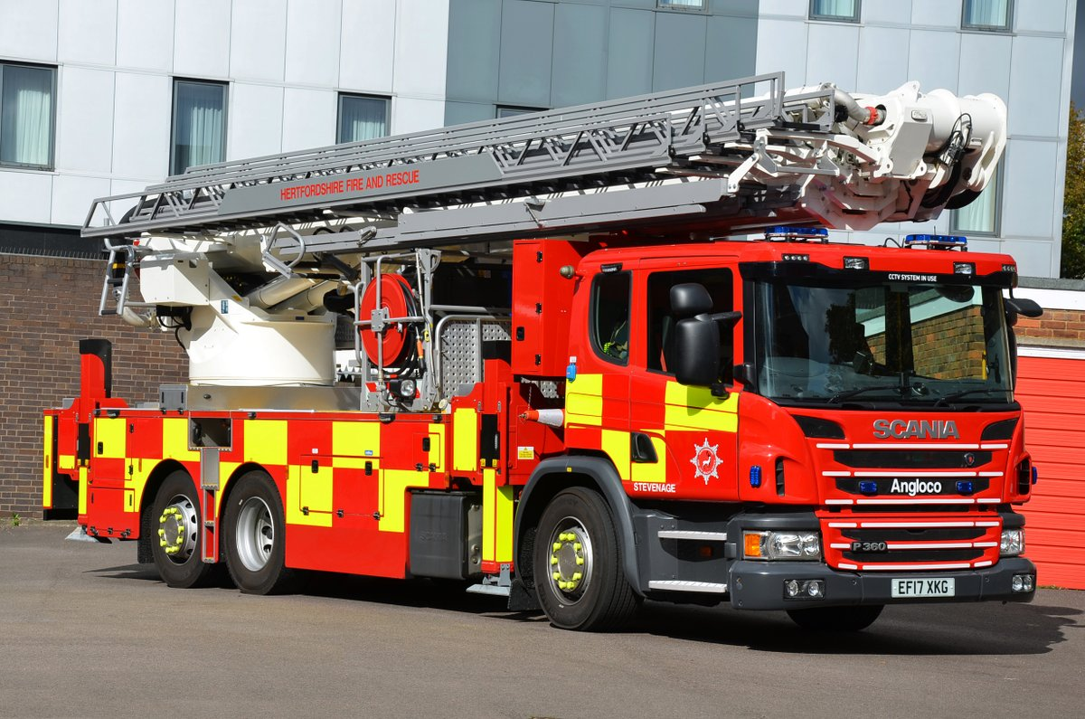 the new ALP at Stevenage, the tallest Aerial in the UK based on a Scania P360 with Bronto FL45 XR