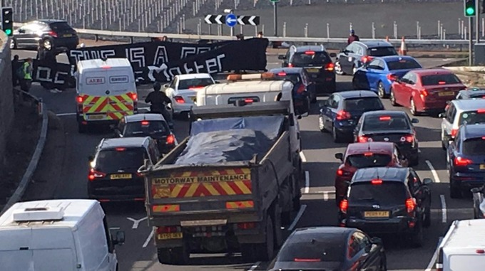 Black Lives Matter protesters block motorway route into Heathrow Airport