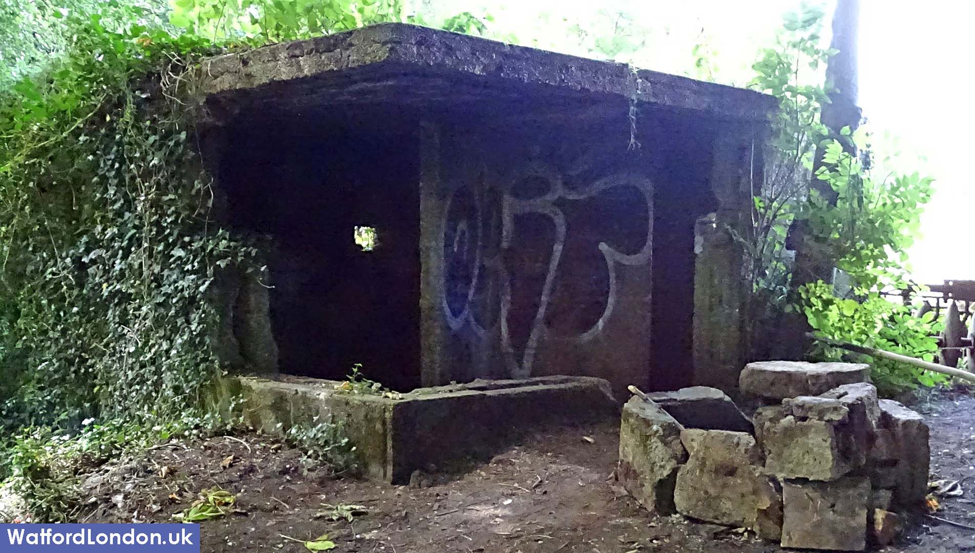 Old War shelter being used as Rural Drug Den at historic hospital cemetery