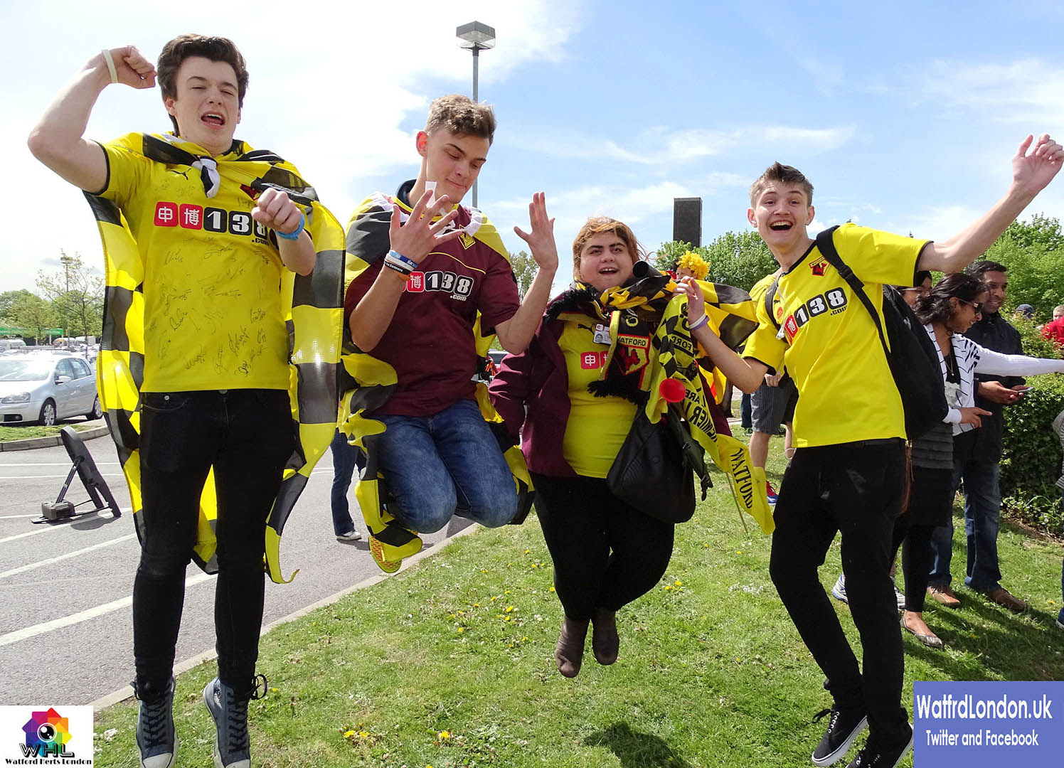 Watford Fans where literally Jumping for Joy