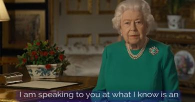 Queen Elizabeth Broadcast to British Citizens in Face of Covid-19 Epidemic