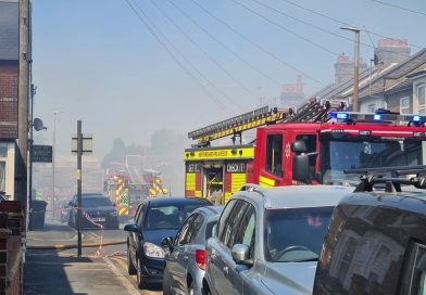 Homes evacuated as Watford fire spreads filling sky with smoke