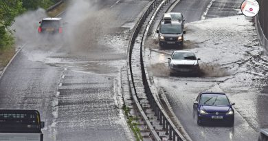 Heavy Rain Thunderstorms caused Flooding in Watford with more predicted by the Met Office